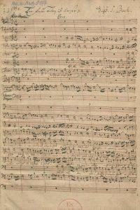J. S. Bach, Kantate BWV 80, Seite 1 der Partiturhandschrift von J. C. Altnickol