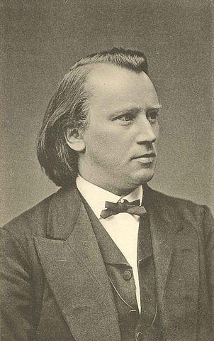 Johannes Brahms, ca. 1875. Foto von Fritz Luckhardt.