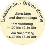 "Logo ""Lukaskirche - Offene Kirche"""