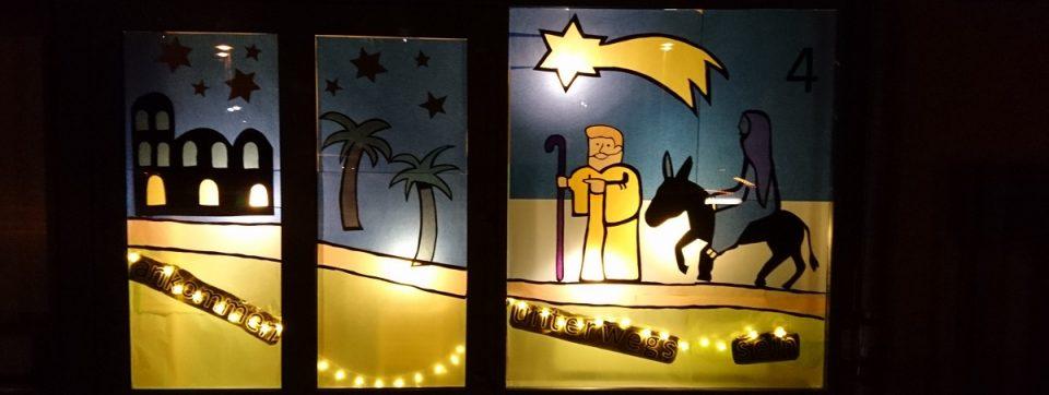 Adventsfenster der Lukas-Gemeindediakonie 2017.