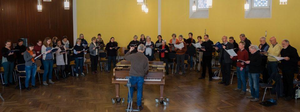 Chorprobe der Auerberger Kantorei, März 2018