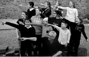 Jugendchor der Ev. Lukaskirchengemeinde, Frühjahr 2018. Foto: privat