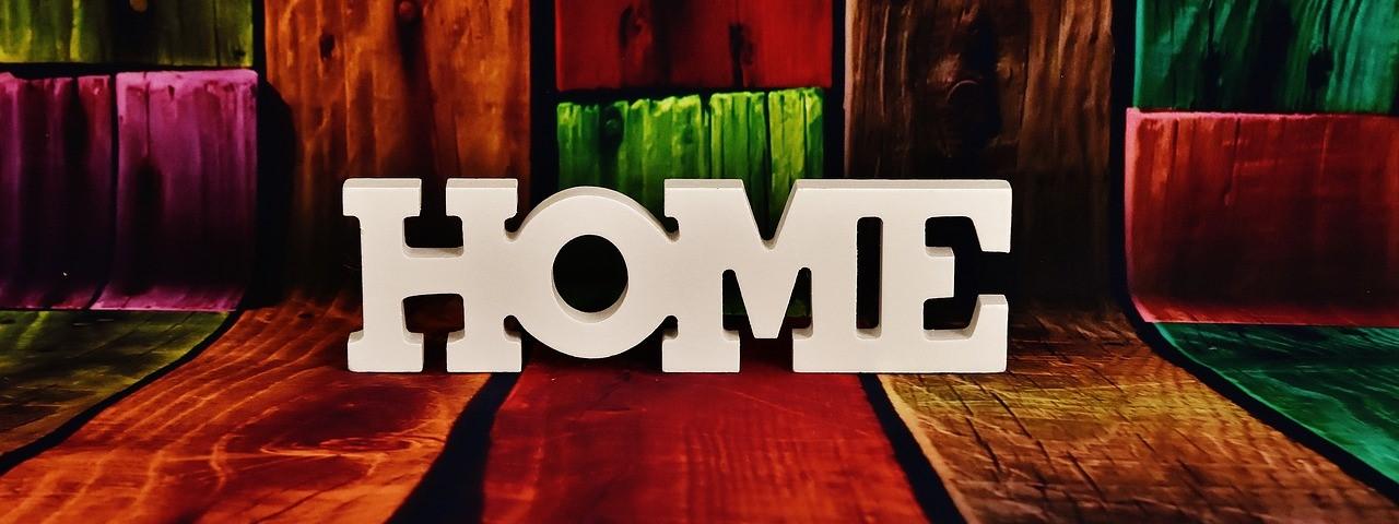 """Schriftzug """"Home"""""""