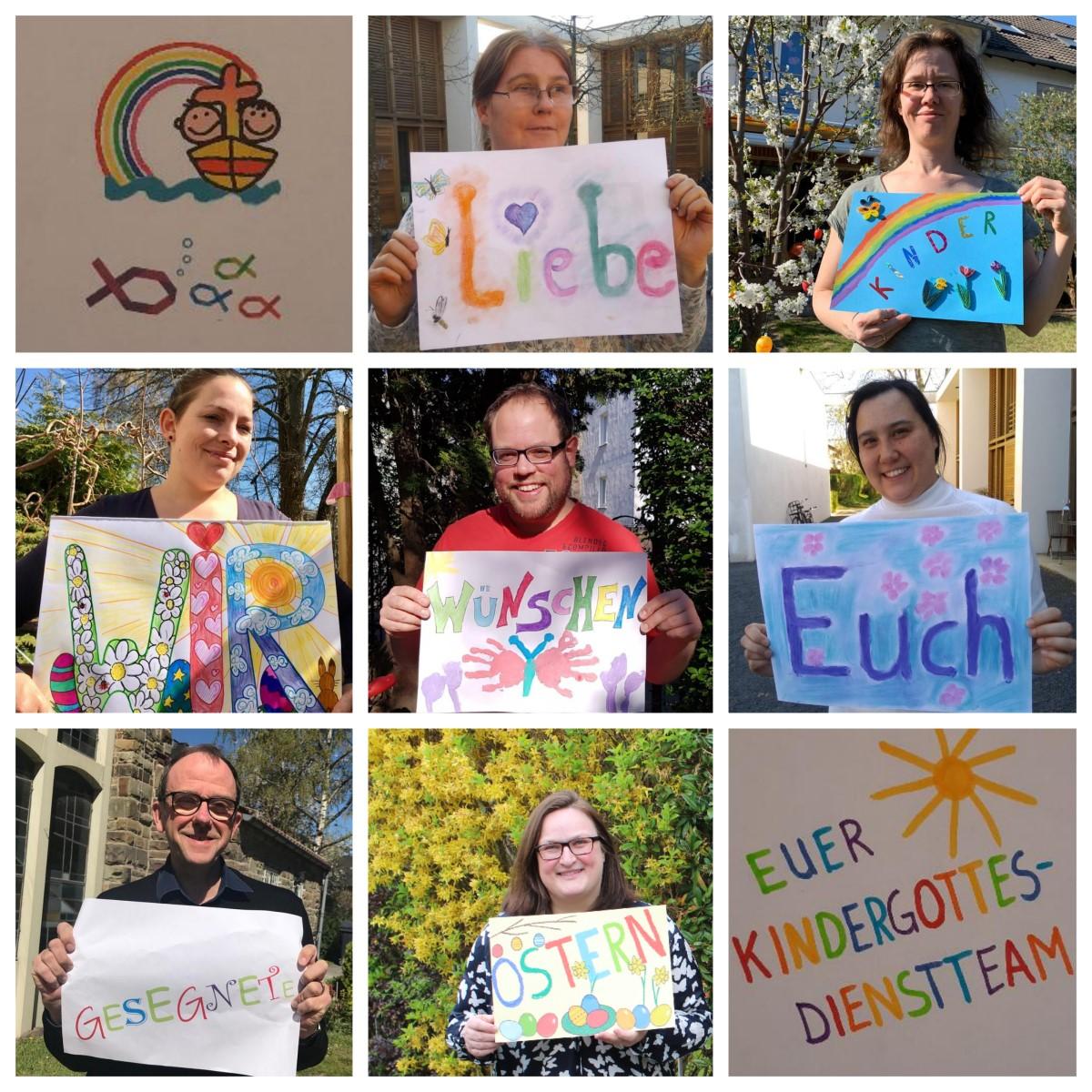 OStergruß des Kindergottesdienst-Teams der Evangelischen Lukaskirchengemeinde Bonn