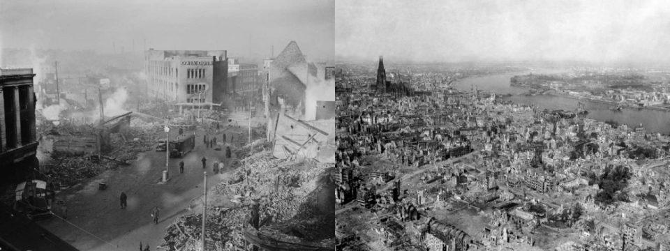 Bombenschäden im zweiten Weltkrieg: Coventry (1940) und Köln (1945)