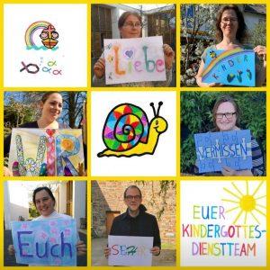 Kindergottesdienst-Team der Evangelischen Lukaskirchengemeinde Bonn, Juni 2020